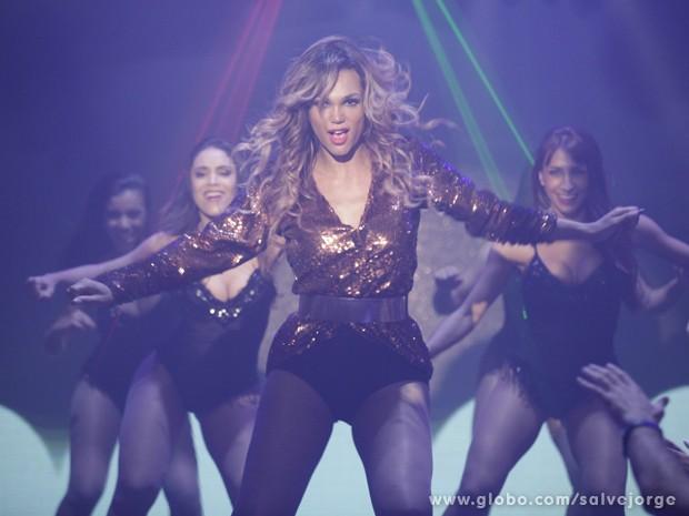 Beyonce arrasando no palco (Foto: Salve Jorge/TV Globo)
