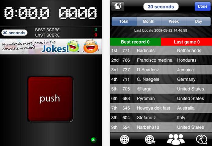 Push The Botton é um jogo fácil que só tem uma função (Foto: Divulgação)