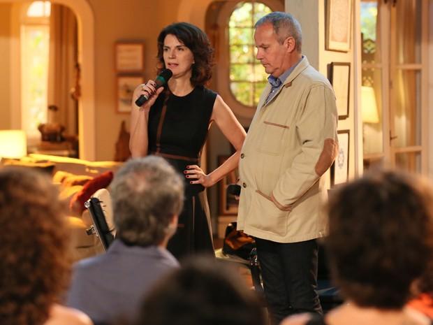 Lícia Manzo e Jayme Monjardim apresentam a novela à imprensa (Foto: Isabella Pinheiro/Gshow)