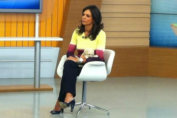 Cristina Ranzolin com Rossi no estúdio (Foto: Fernando Lopes/RBS TV)