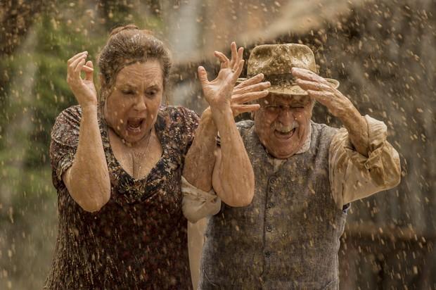 Elizabeth Savalla e Ary Fontoura em cena divertida de Êta Mundo Bom (Foto: Globo/João Cotta)