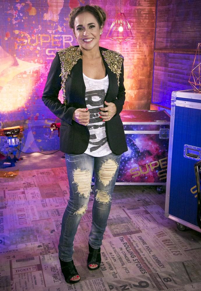 Daniela Mercury inovou no penteado (Foto: Isabella Pinheiro/Gshow)