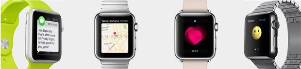AppleWatch poderá enviar mensagens, emojis, medir batimentos cardíacos e dar coordenadas  (Foto: Divulgação Apple)