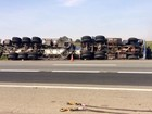 Motorista tomba caminhão na rodovia Castello Branco em Itu