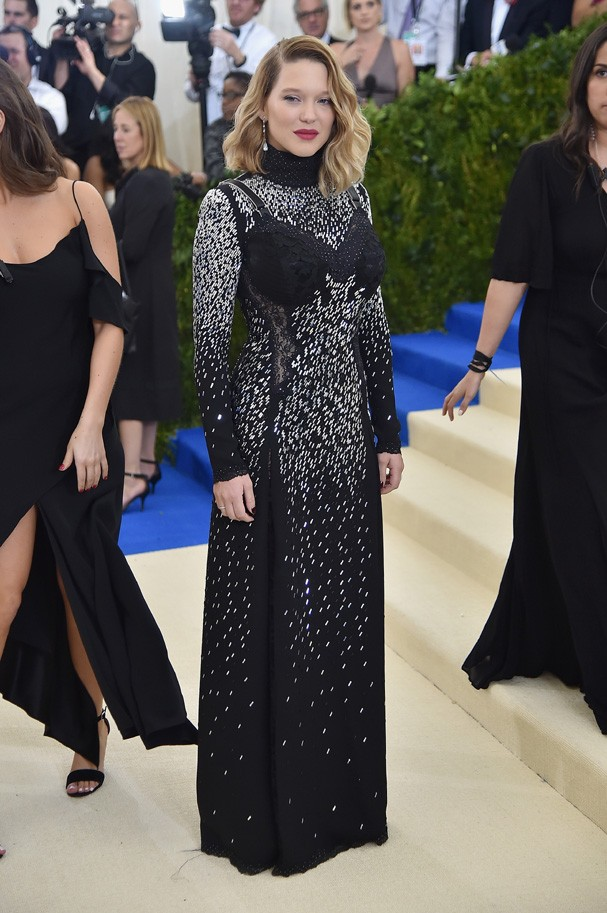 """NEW YORK, NY - MAY 01:  Lea Seydoux attends the """"Rei Kawakubo/Comme des Garcons: Art Of The In-Between"""" Costume Institute Gala at Metropolitan Museum of Art on May 1, 2017 in New York City.  (Photo by Theo Wargo/Getty Images For US Weekly) (Foto: Getty Images For US Weekly)"""
