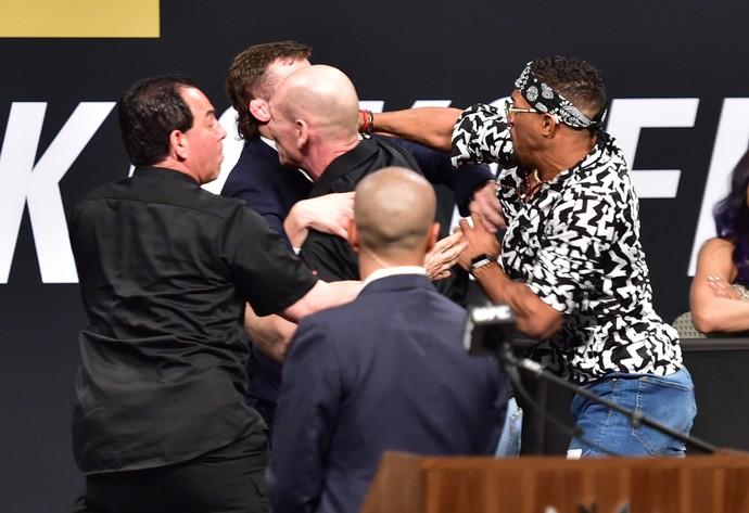Kevin Lee, Michael Chiesa, coletiva de imprensa UFC (Foto: Jason Silva)