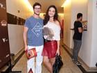 Após pedido de casamento, Débora Nascimento e Loreto vão a pré-estreia