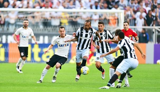 Botafogo e Corinthians duelam na tarde deste sábado, dia 1º (Foto: Reprodução Globoesporte.com)