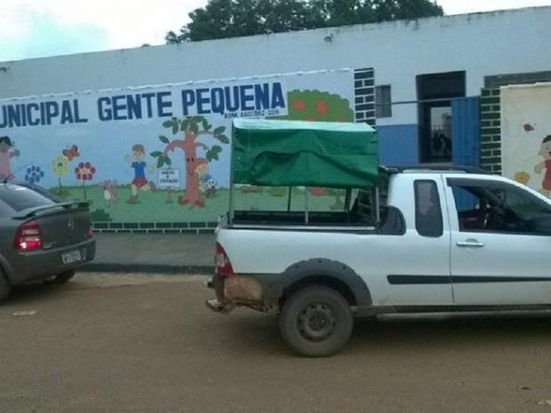 Carro fazia trabalho improvisado em Goiatins (Foto: AF Notícias/Divulgação)