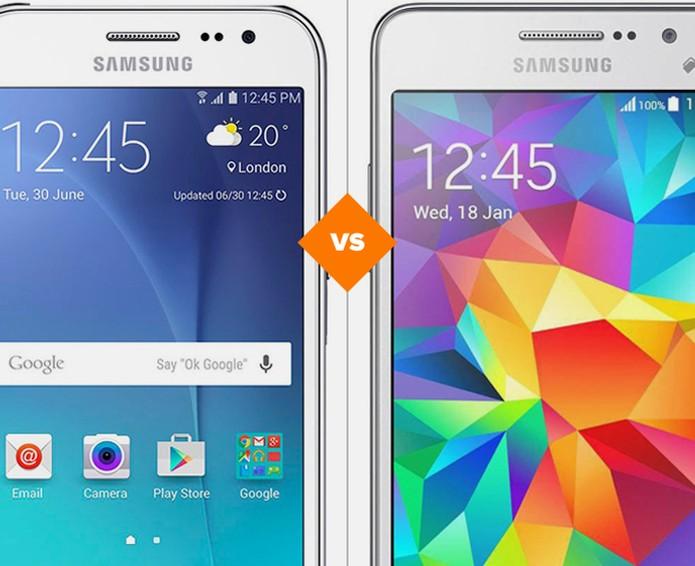 Galaxy J2 ou Galaxy Gran Prime: qual é o melhor celular barato da Samsung? (Foto: Arte/TechTudo)