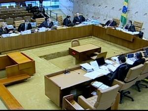 Plenário do STF (Foto: Reprodução Globo News)