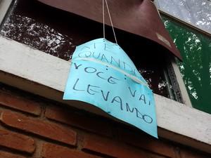 Grupo ocupou prédio da reitoria da Unicamp em protesto à permanência de policiais nos campi (Foto: Marcello Carvalho/ G1 Campinas)
