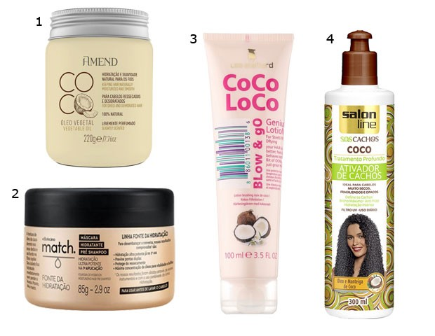 Produtos com óleo de coco (Foto: Divulgação)