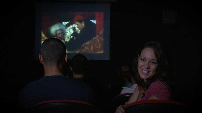 Renatinha mergulha no universo do cinema em Vitória da Conquista (Foto: TV Bahia)