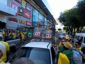Manifestação em Natal (Foto: Felipe Gibson/G1)