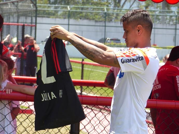 Everton, Treino do Flamengo (Foto: Carlos Mota / Globoesporte.com)