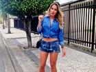 Ex-BBB Adriana customiza short e mostra resultado: 'Look do dia'