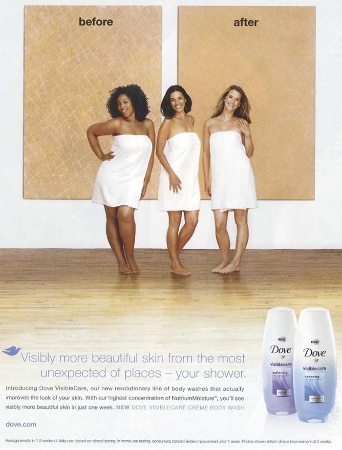 Anúncio antigo da Dove que também foi acusado de racismo (Foto: Reprodução/ Dove)