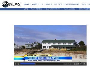 Site da TV ABC mostra acidente após tentativa de 'selfie' nos EUA (Foto: Reprodução / ABC)