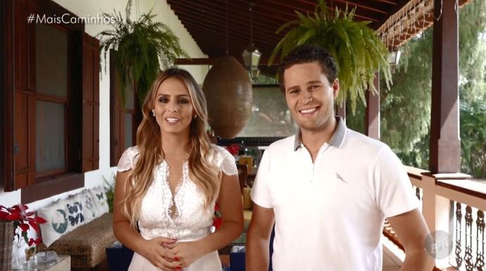 Pedro Leonardo e Aline Lima traz as notícias do Mais Caminhos deste sábado (31) (Foto: reprodução EPTV)