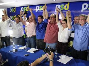 Convenção ocorreu na sede do PSD, na Zona Centro-Sul de Manaus, nesta sexta-feira (5) (Foto: Jamile Alves/G1 AM)