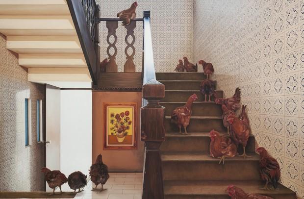 Ana Elisa Egreja, Escada galinhas, 2016 (Foto: Filipe Berndt/Divulgação)