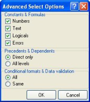 advanced excel select