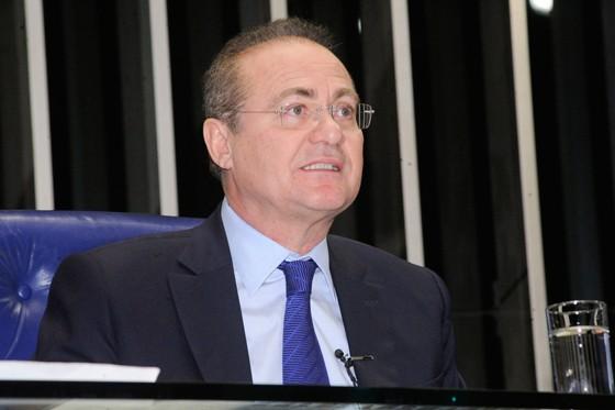 Renan Calheiros, presidente do Senado (Foto: Waldemir Barreto/Agência Senado)