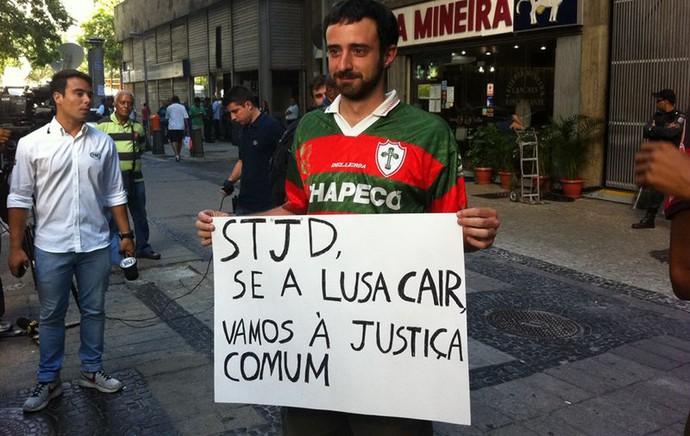 juliano portuguesa STJD julgamento (Foto: Thales Soares)