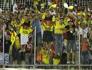 Torcida do Globo FC fez bonita festa no Barretão (Foto: Canindé Pereira/Divulgação)