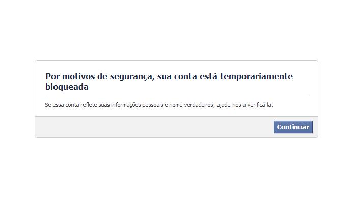 Facebook pode bloquear acesso a contas de usuários (Foto: Reprodução/Facebook)