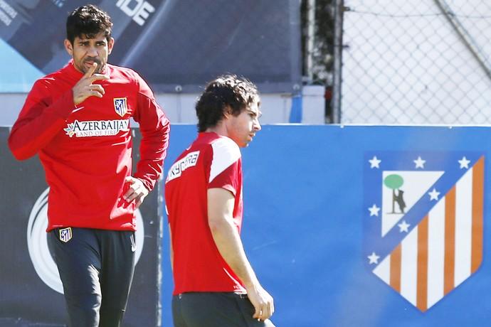 diego costa treino Atletico de Madri (Foto: EFE)