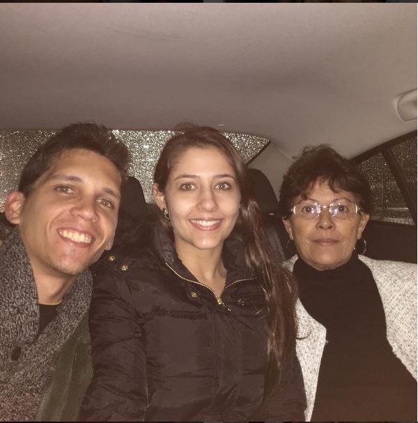 Philipe, Angel e a mãe de Nana,  Laudenes (Foto: Reprodução/Instagram)