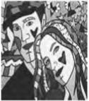 """Romero Brito. """"Gisele e Tom"""" (Foto: Reprodução/Enem)"""