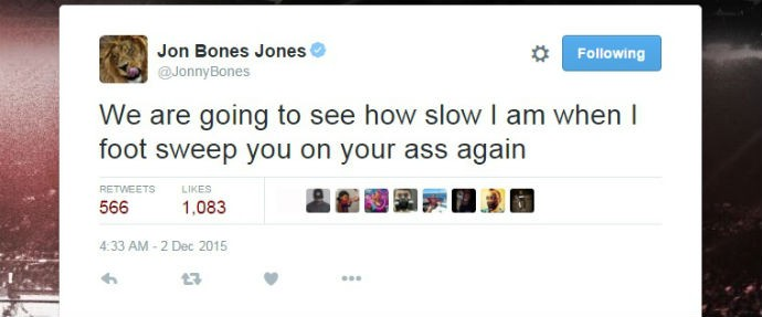 """BLOG: Jon Jones responde Daniel Cormier: """"Veremos quão devagar estou"""""""