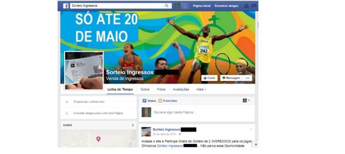 Golpe também usa páginas de Facebook para atrair vítimas (Foto: Divulgação/Kaspersky Lab)
