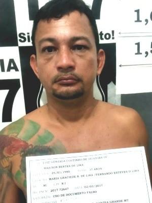 Sebastião Barbosa Neto, 35 anos, foi preso no dia 2 em Várzea Grande (MT) (Foto: Assessoria/ Polícia Civil-MT)