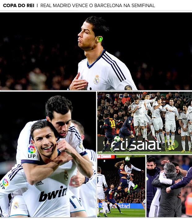 Galeria Mosaico Real Madrid vence Barcelona na semifinal da Copa do Rei (Foto: Editoria de Arte / Globoesporte.com)