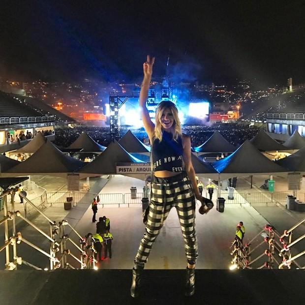 Marina Pumar, a loira que deixou festa acompanhada de Justin Bieber, no show do cantor (Foto: Reprodução / Instagram)