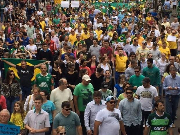 Protesto reuniu 12 mil segundo PM e 25 mil segundo organizadores (Foto: Divulgação)