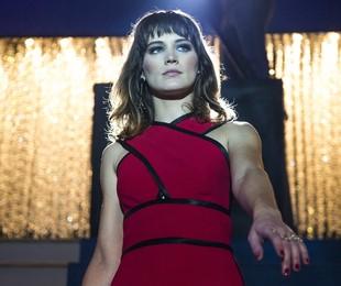 Bianca Bin na cena em que Clara revela que está de volta à sociedade de Palmas | Reprodução
