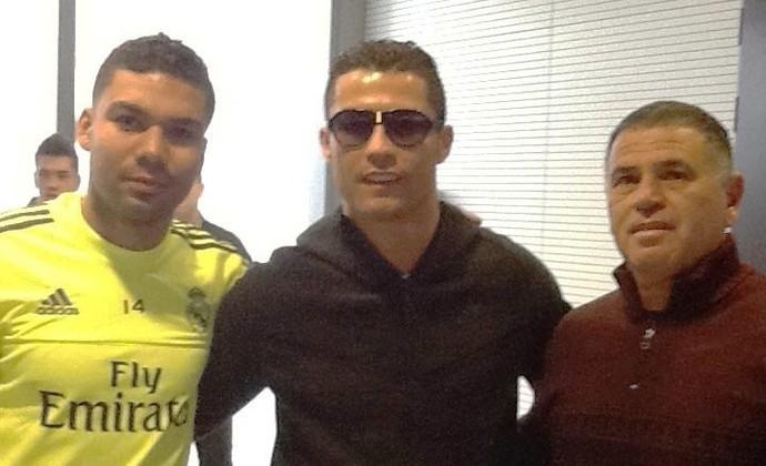 Moreira Casemiro e Cristiano Ronaldo Real Madrid (Foto: Reprodução/ Facebook)