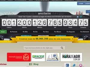 Impostômetro mostra R$ 1,2 trilhão (Foto: Reprodução)