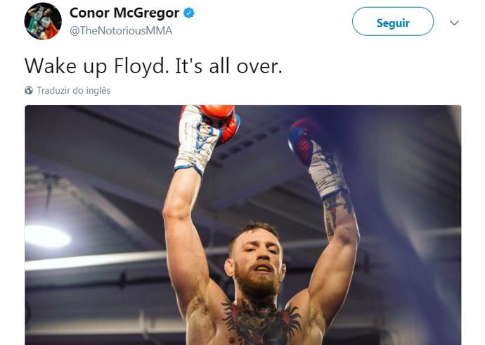 Provocação McGregor (Foto: Reprodução)
