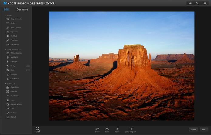 Photoshop Express (Foto: Reprodução/Adobe)