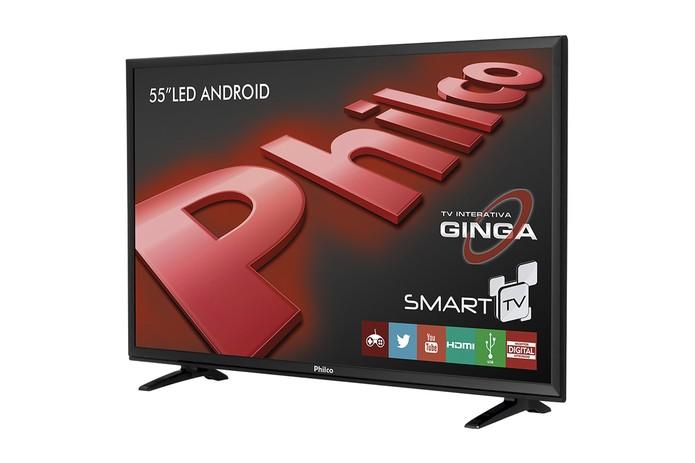 65ba10fa1 Smart TV da Philco de 55 polegadas faz pareamento com celular e tem sistema  Android (