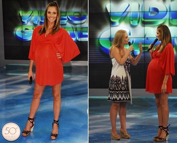 Fernanda Lima estreou na TV Globo no Vídeo Show (Foto: Arquivo)