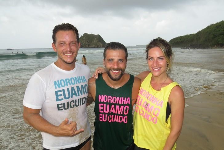 Henrique Pistilli, Bruno Gagliasso e Giovanna Ewbank