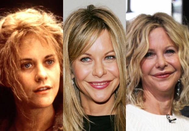 Meg Ryan em três fases: 1996, 2006 e 2016 (Foto: Getty Images)
