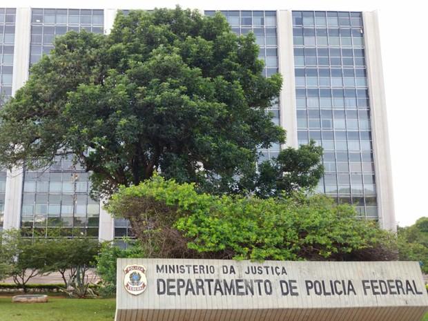 Fachada da sede do Departamento da Polícia Federal em Brasília (Foto: Vianey Bentes/TV Globo)